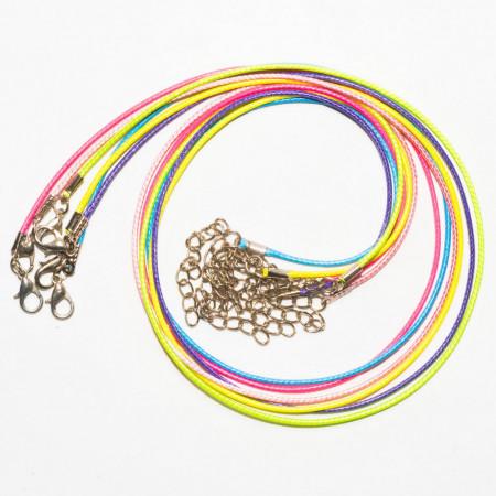 Шнуры цветные, 50 см, 5 штук
