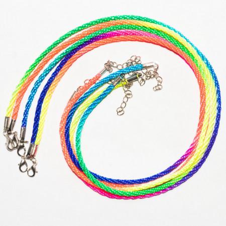 Шнуры цветные толстые, 50 см, 5 штук