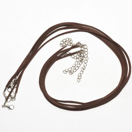 Шнуры коричневые, 50 см, 5 штук