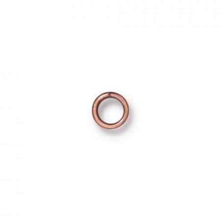 Колечко соединительное, круглое разъёмное, цена за 10 штук, латунь медь, 4мм