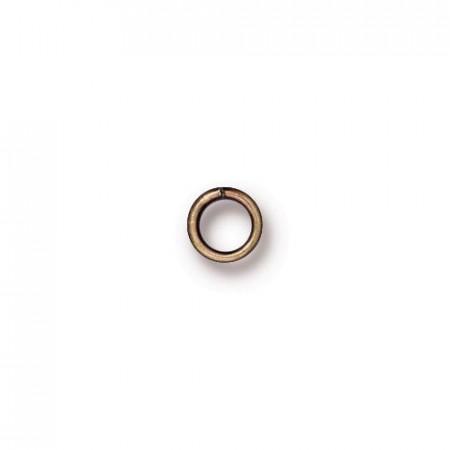 Колечко соединительное, круглое разъёмное, цена за 10 штук, латунь бронза с чернением, 4мм
