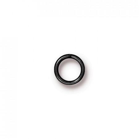 Колечко соединительное, круглое разъёмное, цена за 10 штук, вороненая сталь, 6 мм
