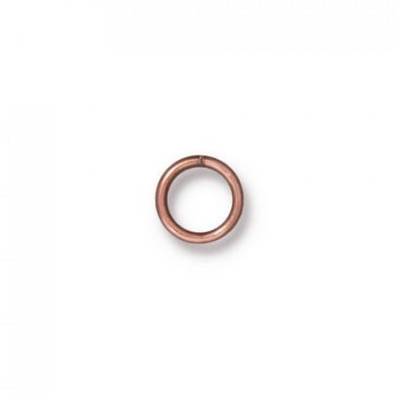 Колечко соединительное, круглое разъёмное, цена за 10 штук, медь с чернением, 6мм