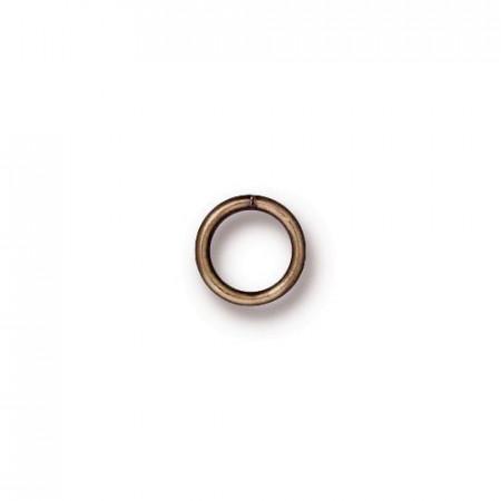 Колечко соединительное, круглое разъёмное, цена за 10 штук, бронзовое с чернением, 6мм