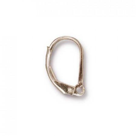 Швенза, основа для серег с английским замком и петелькой, серебро 925, 20х15мм