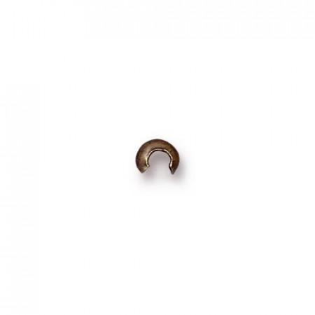 Кримпы обжимные, круглые кримпы обжимные 3мм, цена за 10 штук, бронза с чернением, 3мм