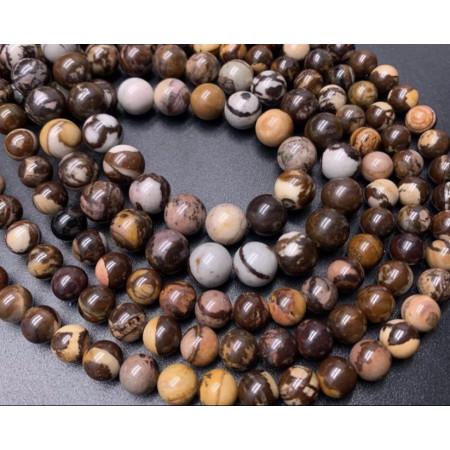 Каменные бусины, Австралийская Яшма, шарик гладкий, 10 мм, длина нити 38 см
