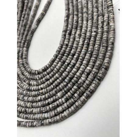 Каменные бусины, Океаническая  Яшма, 4х2, длина нити 38 см