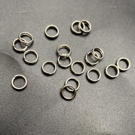 Колечки соединительные, двойные, родий, латунь, под серебро, 5 мм, цена за 10 шт