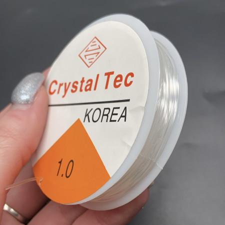 Леска-резинка, для плетения браслетов, бесцветная, прозрачная, толщина 1.0 мм