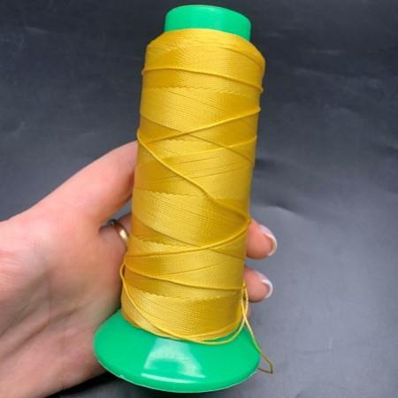 Нитки жёлтые, вискоза, толщина нитки 0,5 мм