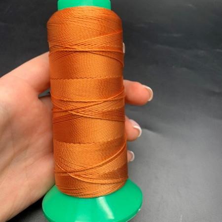 Нитки оранжевые, вискоза, толщина нитки 0,5 мм