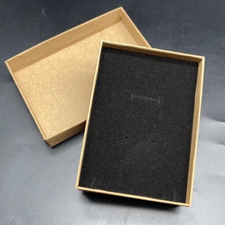 Подарочная коробочка, с подложкой, картонная, коричневая, размер 110х80х25 мм