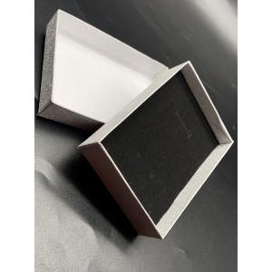 Подарочная коробочка, с подложкой, картонная, серебристая, блестящая, размер 110х80х25 мм