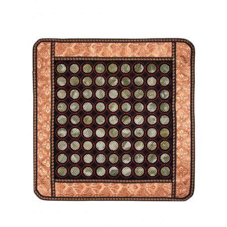Коврик  квадратный с пластинами из нефрита, 430 х 430 х 5 мм