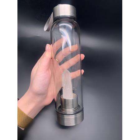 """Бутылка для воды, кристалл """"Горный Хрусталь"""", объём 700 мл, в комплекте чехол и упаковка"""