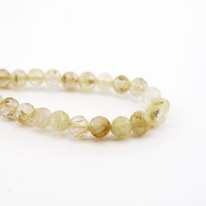 Каменные бусины, Волосы Венеры люкс ,140 бусин, шарик огранка 2,5 мм