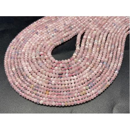Каменные бусины, Берилловый Микс, рондель, огранка, 2,5х4 мм, длина нити 38 см