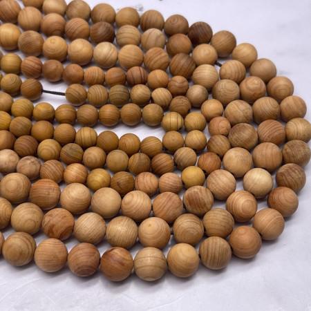 Деревянные бусины, светло-коричневый, шарик, 10 мм, длина нити 38 см