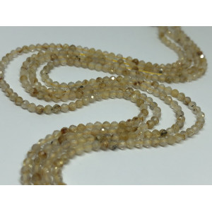 """Каменные бусины,""""Волосы Венеры """" премиум (люкс) , 120 бусин, шарик огранка 2 мм"""