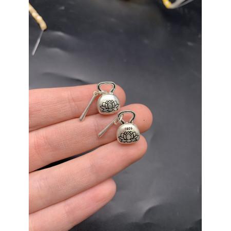 """Подвеска """"Кошелек с Лотосом"""" из тайского серебра 925 пробы, 15х10 мм"""