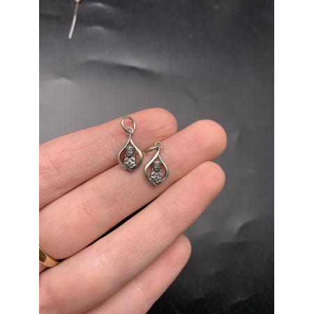 """Подвеска """"Будда"""" из тайского серебра 925 пробы, 19х9 мм"""
