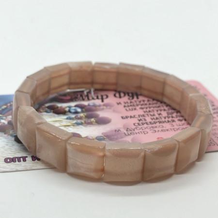 """Браслет """"Авантюрин"""" 10 х 10 мм, 18 пластин"""