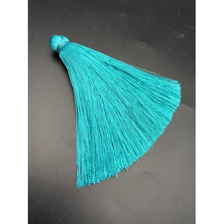 Кисточка, бирюзового цвета, 66 мм, цена за штуку
