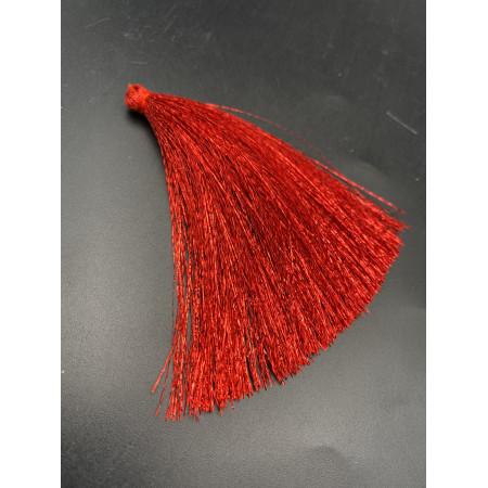 Кисточка, блестящая, красного цвета, 80 мм, цена за штуку