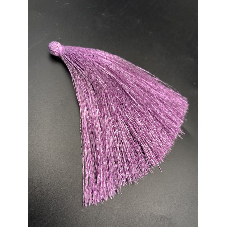 Кисточка, блестящая, сиреневого цвета, 80 мм, цена за штуку