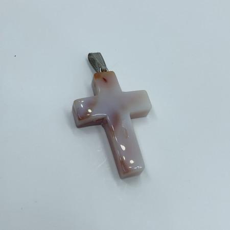 """Кулон (подвеска),Опал (имитация),""""Крест""""40x28 мм"""