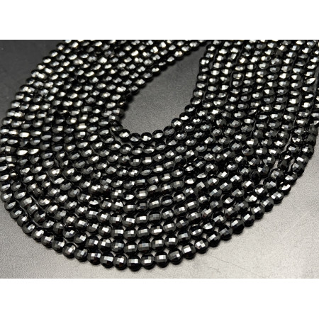 Каменные бусины, Шпинель, монетка, огранка, 4х2,5 мм, длина нити 38 см