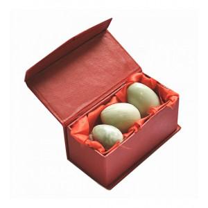 """Нефритовые яйца (3 шт. в комплекте) """"Люкс"""""""