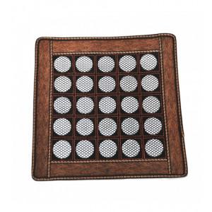 Нефритовый коврик квадратный коричневый большие камни (43 х 43 см)