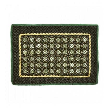 Нефритовый коврик прямоугольный с сеткой (42 х 25 см)