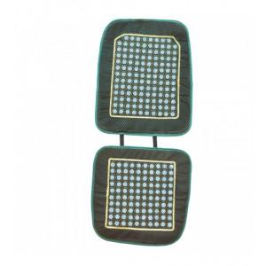 Чехол на сиденье зеленый с нефритовыми пластинами,  1030 x 440 мм