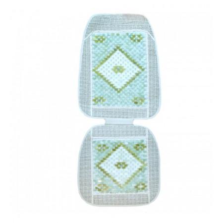 Нефритовый коврик Сиденье люкс белое (104 x 45 см)