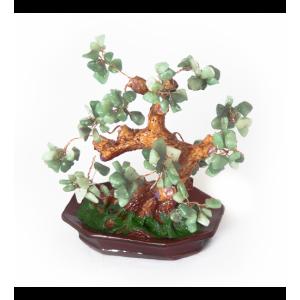 Дерево счастья №10 Нефрит. 15х17,5 см