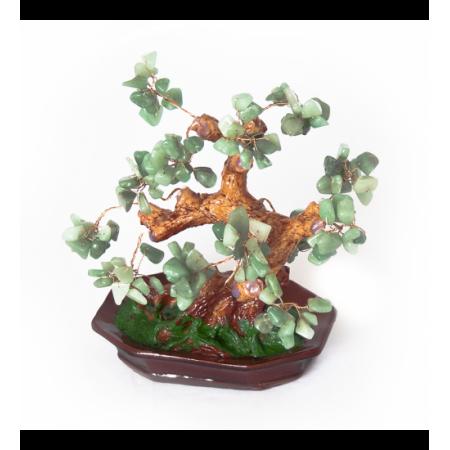 Дерево счастья №6 Нефрит. 15х17,5 см