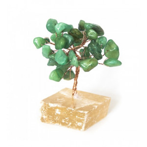 Дерево счастья Нефрит на каменной подставке, 7,5х5,5 см