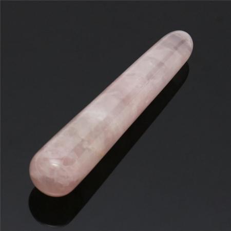 Палочка толстая малая из розового кварца
