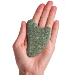Скребок Гуаша из Жадеита в форме сердца, 80 x 60 x 5 мм