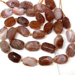 Каменные бусины, Персиковый Агат , размер 21 х 15 мм, нить 40 см, 16 бусин