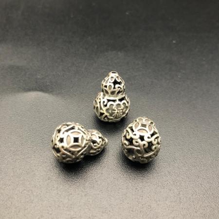 """Бусина из тайского серебра, """"Тыква Ву-Лу"""", 17х12 мм"""