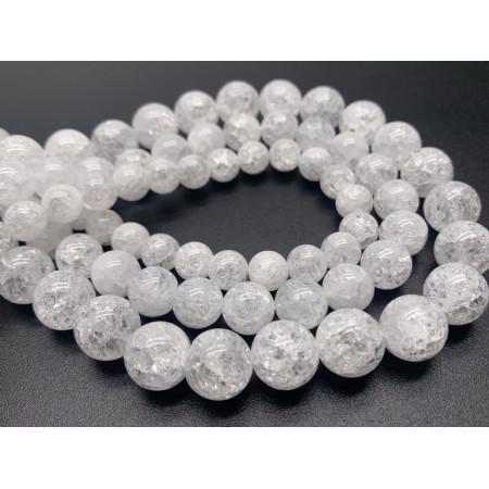 """Каменные бусины, """"Сахарный"""" Кварц, прессованный, шарик гладкий, 10 мм, длина нити 38 см"""