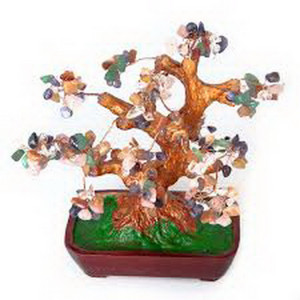 Дерево счастья №25 Самоцветы, 22х19 см