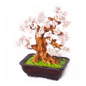 Дерево счастья №24 Розовый кварц, 38х28 см