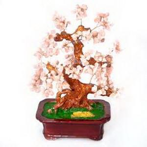 Дерево счастья №22 Розовый кварц, 32х27 см