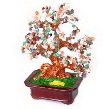 Дерево счастья №8 Самоцветы, 30х24 см