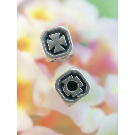 """Разделитель """"крест""""  из тайского серебра 925 пробы, 6 мм"""